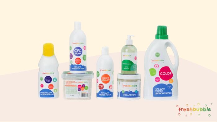 Набор экологичных средств для дома Freshbubble